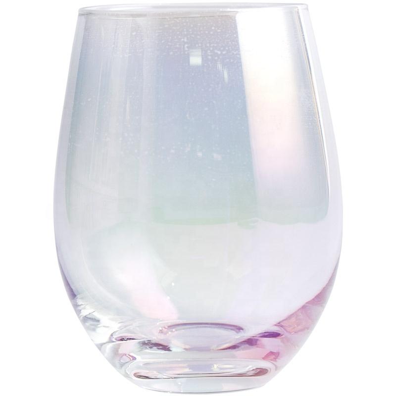 थोक 520 ml नेतृत्व मुक्त क्रिस्टल रंगीन बिना डंडी शराब गिलास