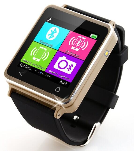 ae6c52c73 i7plus Bluetooth elegante reloj de pulsera teléfono Mate para IOS Android  Samsung HTC iPhone (plata
