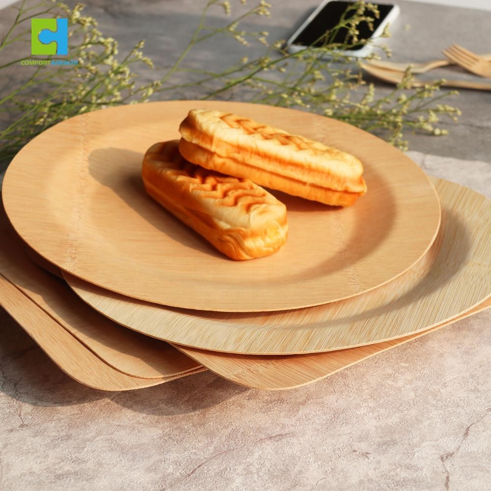 Disposable Biodegradable Bamboo Bagasse แผ่นกระดาษ
