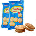 Wholesale Organic Milk Sandwich Round Cookie Biscuits Halal Food