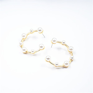 New arrival cuff pearl earrings personalized earrings for women