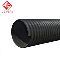 High quality Double Wall Smooth Interior HDPE Plastic Corrugated 18 12 inch Culvert Pipe for Drainage