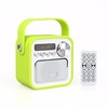 Cheap price 1800mA long standby time colorful portable BT/TF/AUX/USB FM mp3 player with screen with rechargeable battery