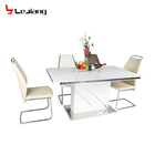 Free Sample Pictures Price Led Stand 8 Chair Iron Turntable Faux Marble Dining Table Of Wooden Plastic Dining Table