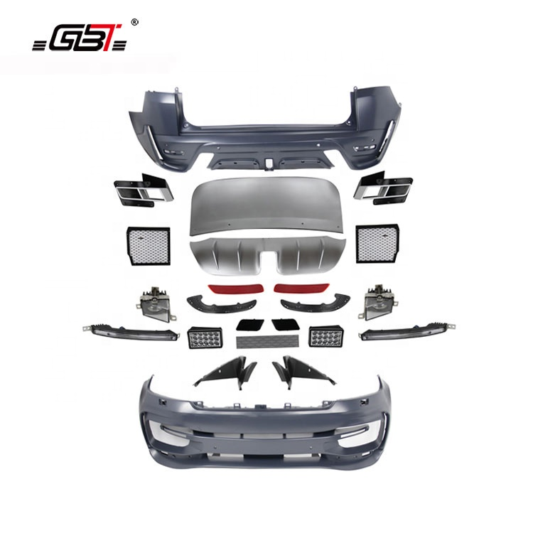 GBT body kit front rear bumper headlight grille and led taillight for year 2014 for Land Rover Range Rover Sport ST Model