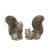 New arrival cute style custom size ceramic squirrel for decor