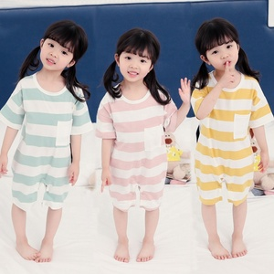 2019 Baby Clothes Summer Jumpsuit Cotton Short Sleeve Stripe Pattern Romper