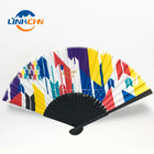 Australian cheap price bamboo fabric hand fans as free sample