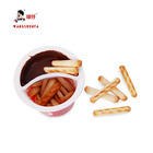 Children's favorite chocolate with finger biscuits high quality chocolate sauce row 10 cups price