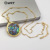 WT-JN061 New Arrival Women's Jewelry Round Natural Color Shell Pendant 18K Gold Plated Natural Abalone Shell Necklace