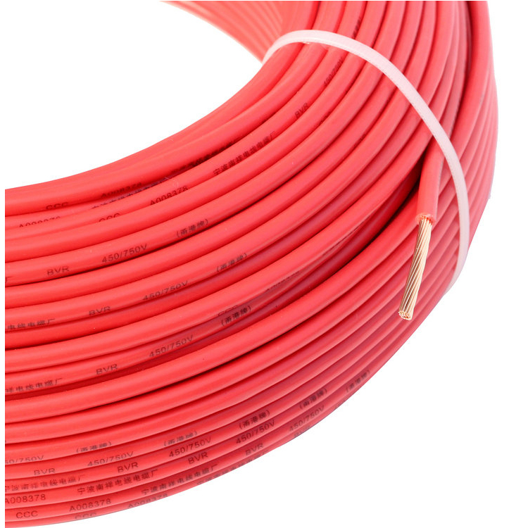 BVR 6 PVC Insulated Stranded Electric Copper <strong>Wire</strong> 6mm PVC Insulated Stranded Electric Copper <strong>Wire</strong> 6mm2 PVC Insulated Stranded El
