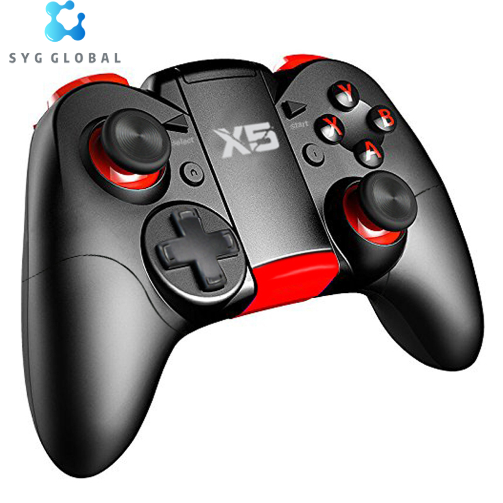 Wireless BT Game <strong>Controller</strong> For PC Android/IOS Phone Dual Vibration Joystick Gamepad X5 PRO <strong>Controller</strong> For TV Box/Tablet
