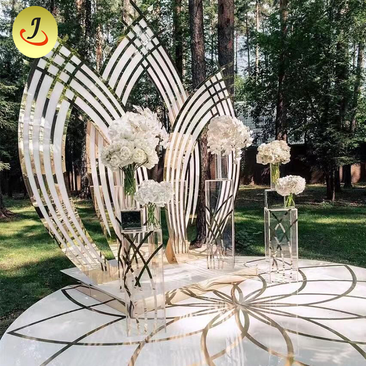 Special Design Pattern Golden TROVAL Wedding Backdrop for Wedding Event Decoration
