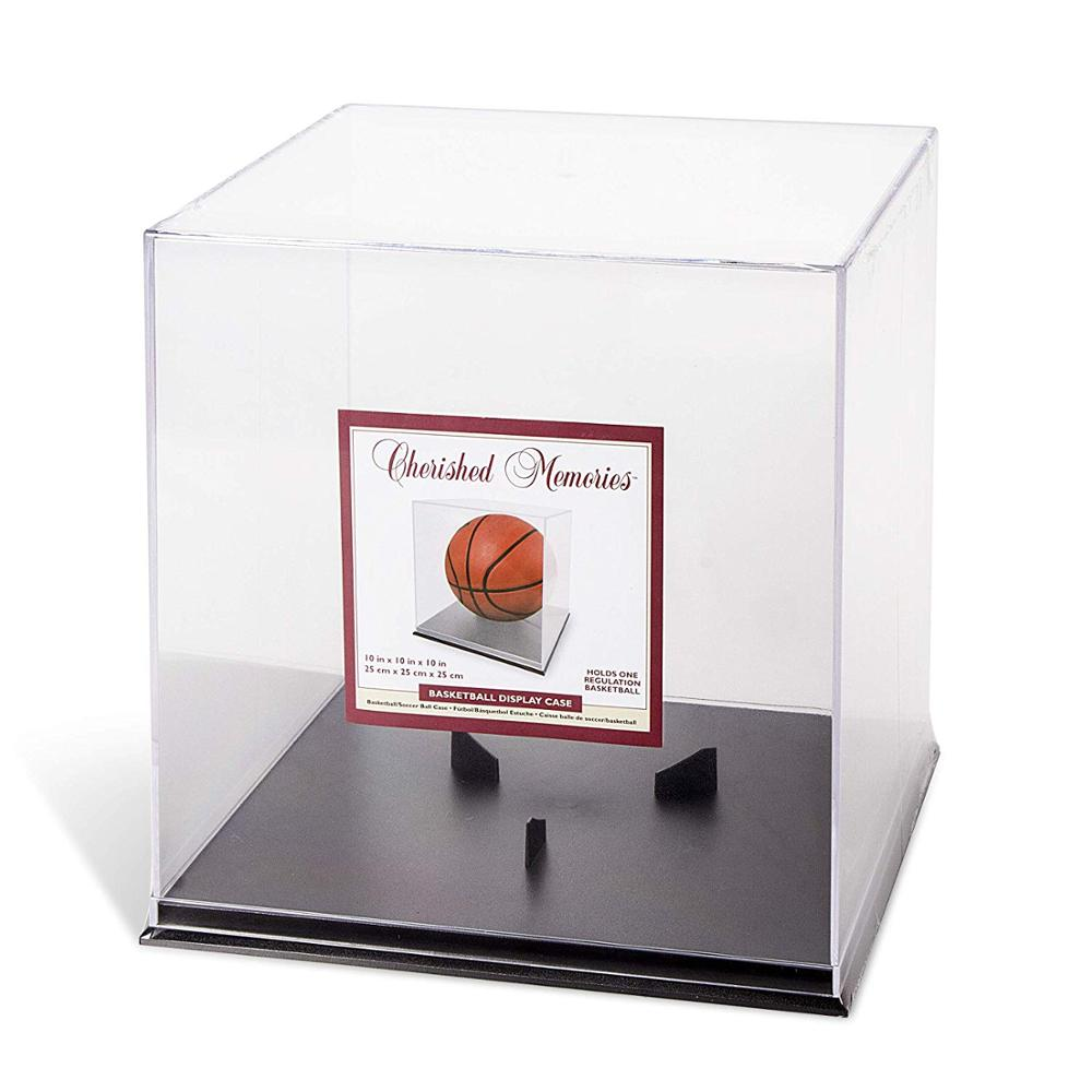 Darice Schwarz Basis Basketball/fußball/runde ball Acryl Display Box