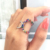 SR02345 Women accessories jewelry rainbow ring silver 925 for special gift