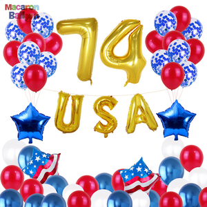 July 4th Aluminum Film Balloon Set Celebration Balloon Party Favors Supplies Decoration for National Independence Day KK245