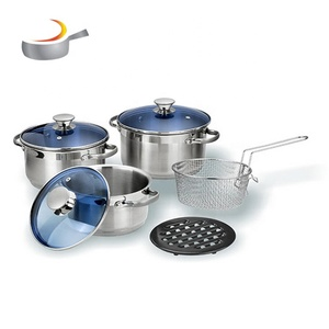 luxury cookware sets stainless steel frying basket with handle