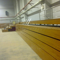 JY-760 Wooden retractable seating telescopic bleacher gym bleacher for indoor use