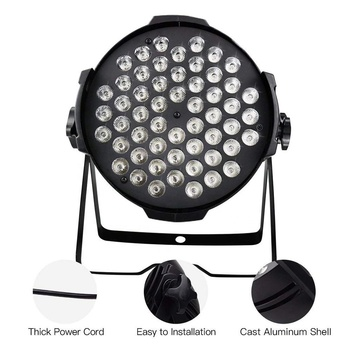 LP007 LED Par 54x0.5w RGBW With DMX512 for club disco DJ Sound Activated