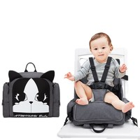 2019 mummy fashion insulated baby diaper bag travel backpack with infant and kids portable chair