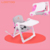 Adjustable height easy fold light weight child toddler folding baby dining chair for 1-3 kids