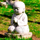 Hot Sale Cute Small Granite Thai Stone Baby Buddha Monk Statue