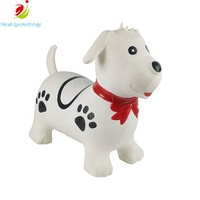 2019 Outdoor Kids Toys Plastic Animal Painting Oil Dog Hopper for AGE 5 Riding Outdoor