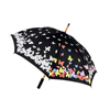 Factory direct sales hot creative color changing print straight umbrella
