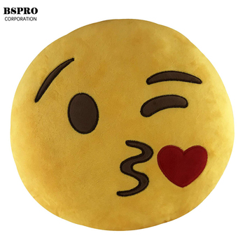 BSpro #E1901 30CM Emoji plush Pillow toy