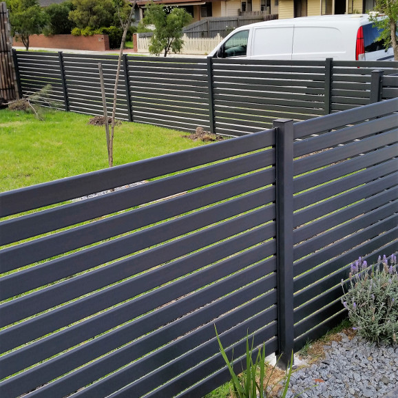 Powder coated aluminum garden privacy fences for steel grateing yard fence