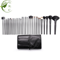 Oem New Wholesale Wood Goat Hair Professional Cosmetic Private Label Make Up Brushes 32 Pcs Piece Makeup Brush Set
