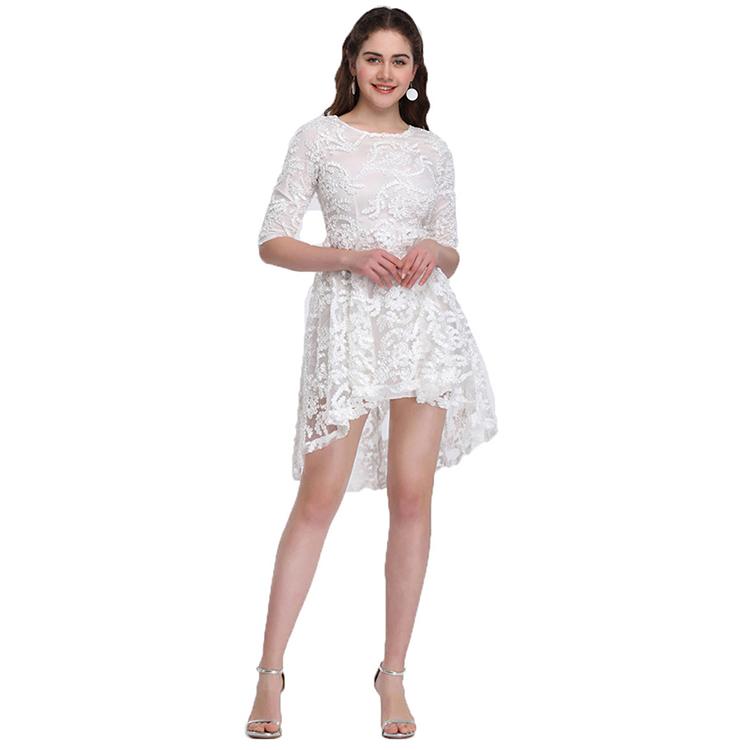 6ea2e5b2a Venta al por mayor blanco online vestidos-Compre online los mejores ...