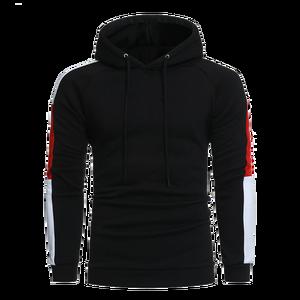 High quality wholesale custom slim fit black men hoodies with hoody