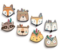 Cartoon Animal Wood Wall Decorations,Wood Wall Decorations For Kids Living Room