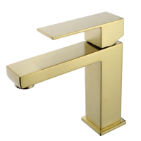 Golden Brushed Gold Prices Water Bathroom Basin Sink Brass Faucet Taps Mixer China Faucet Factory