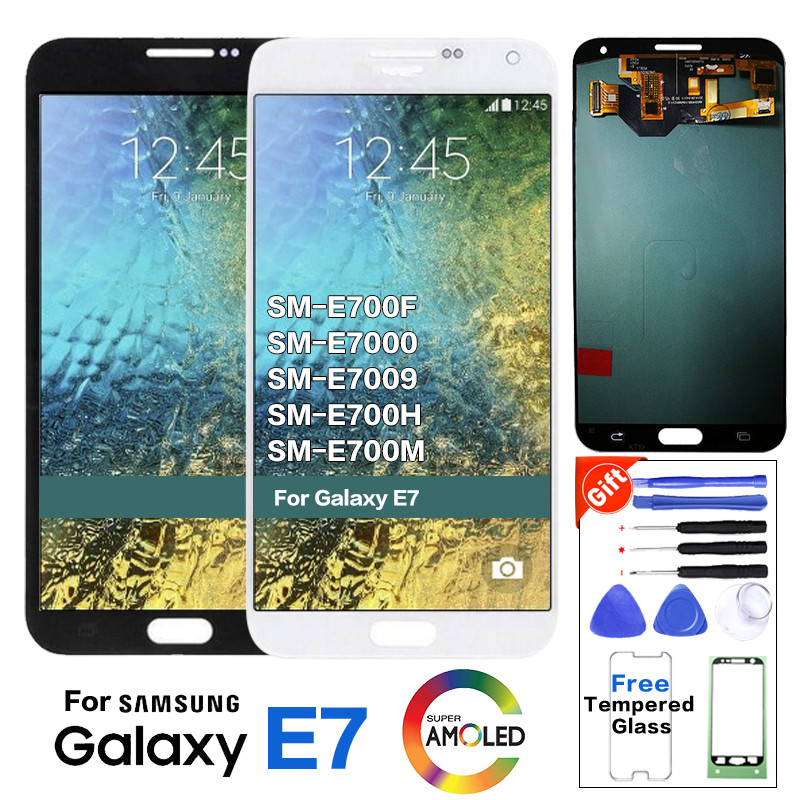 Super Amoled LCD for SAMSUNG Galaxy E7 LCD Display Touch Screen For Galaxy E7 E700 E700M E700F E700H LCD Display