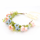 Party cute floral headband bridal hair accessories flower wedding crown for girls