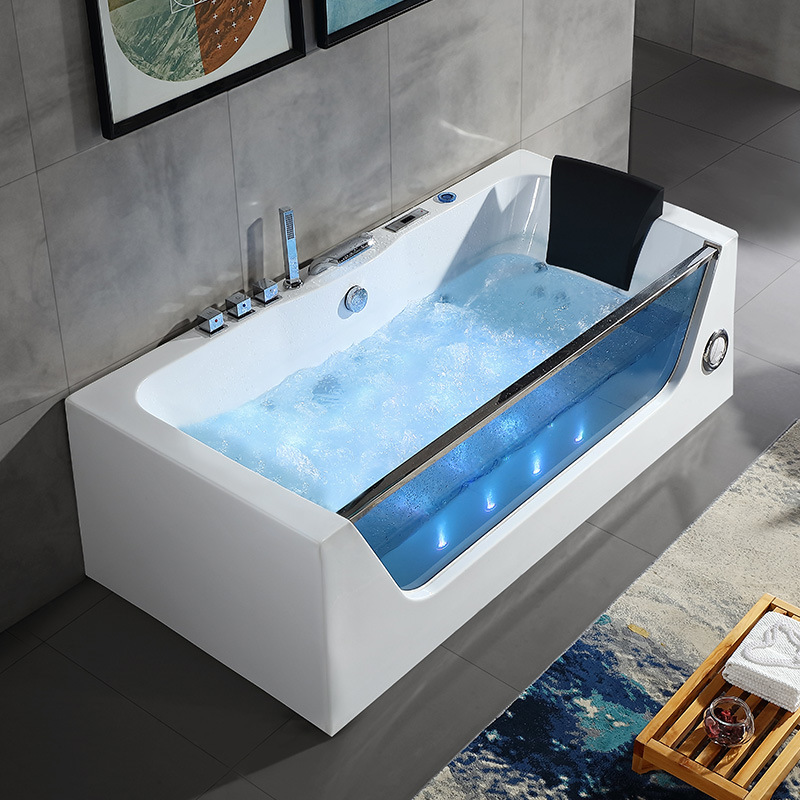 Indoor rechthoek acryl massage bubbelbad Air Spa Jets hot tub whirlpool