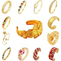 xuping wholesale bracelet saudi arabia jewelry, dubai latest simple designs adjustable gold sex brass jade bangle