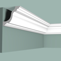 plastic crown moulding PU PS Polystyrene ceiling board