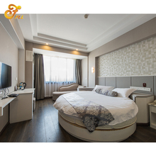 Custom Made Moderno Hotel Di Lusso Interno Rotondo Divano <span class=keywords><strong>Letto</strong></span> In pelle Mobili Per 3-5 Stelle Hotel Room