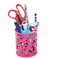 Metal Bucket Mini Trash Can Round Shape Pen Holder