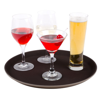 Anti Slip Plastic Bar Serving Tray