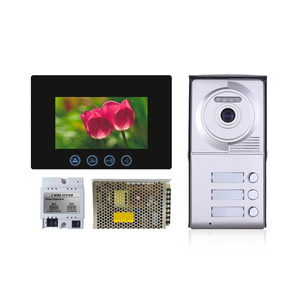 "video Door Bell Peephole Door Viewer Camera 7"" Color Screen Wired Doorbell Video"