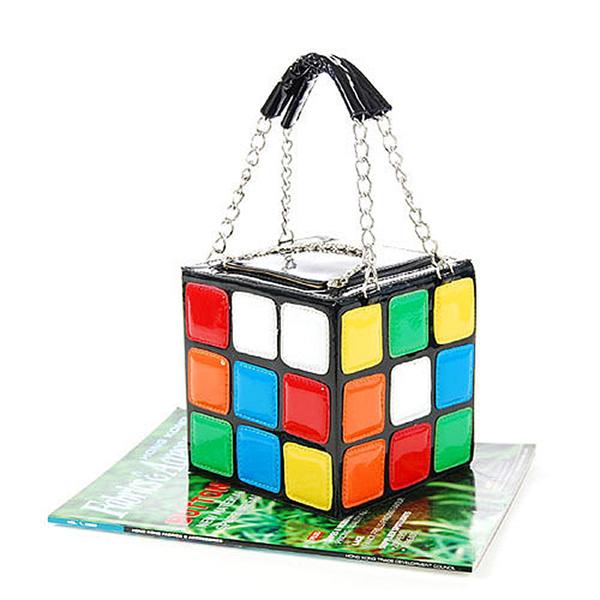 2020 सबसे अच्छा बेचने महिला भोली जादू घन बैग/हैंडबैग महिला गर्म प्यारा जादू घन बैग पर्स
