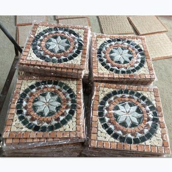 Square European Style Stone Mosaic Pattern Entrance Decorative Floor Tile Patterns