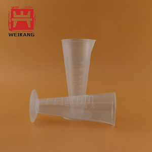 50ml Triangle Measuring Cups Beaker Taper with Scale Messcylinder Triangle Cup Trigonometric Capacity Plastic Measuring Scale