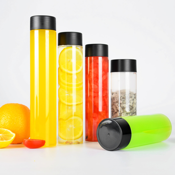 Manufacture 350-450ml juice disposable beverage bottles packing plastic pet with lid
