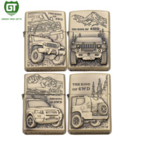 The King of 4WD Series custom metal antique gold lighter