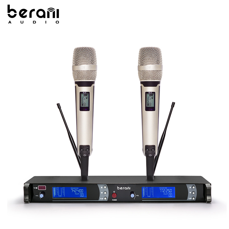 Profesional UHF Wireless Microphone Karaoke